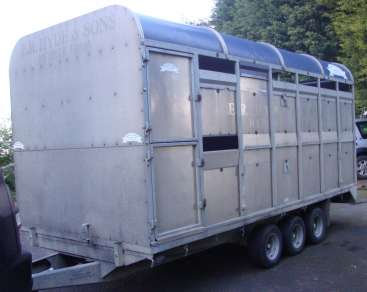 USED GRAHAM EDWARDS DEMOUNTABLE CATTLE TRAILER