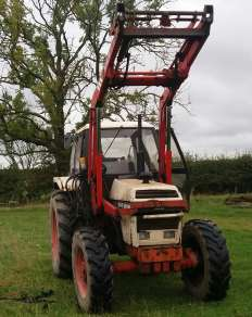 DAVID BROWN 1490 4WD TRACTOR C/w LOADER