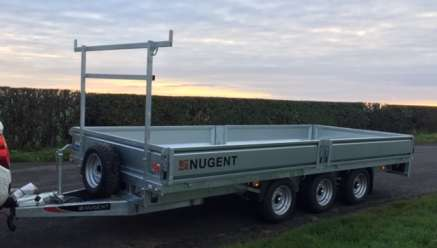 NEW NUGENT 14ft FLAT BED TRAILER
