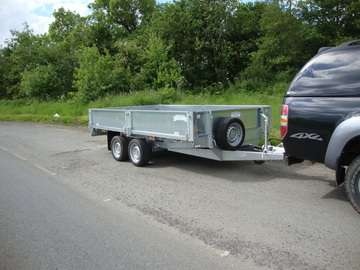 NEW GRAHAM EDWARDS 12FT FLAT BED TRAILER