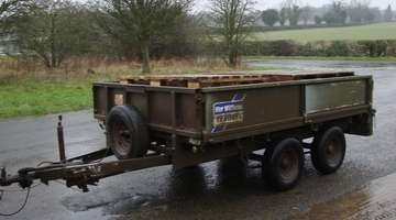 IFOR WILLIAMS 8ft FLAT TRAILER