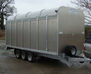 NEW GRAHAM EDWARDS 14FT DEMOUNT. CATTLE TRAILER