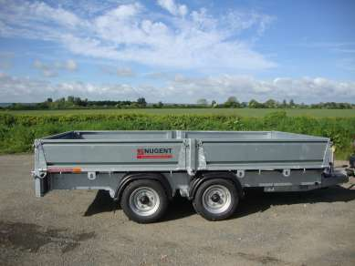 NEW NUGENT 12ft FLAT BED TRAILER