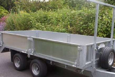 New GET 10ft x 6ft Twin-axle  Flat Bed Trailer