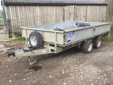 IFOR WILLIAMS 12ft FLAT TRAILER