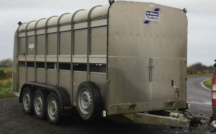 IFOR WILLIAMS 14ft x 5ft 10 TRI CATTLE TRAILER