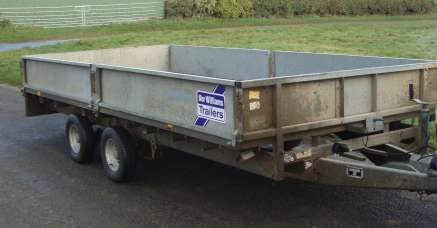 IFOR WILLIAMS 14ft FLAT BED TRAILER