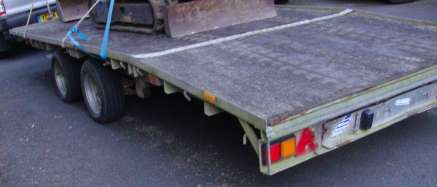 IFOR WILLIAMS 16fT FLAT BED TRAILER
