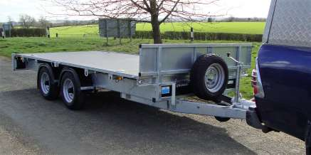NUGENT 14ft TWIN AXLE FLATBED TRAILER