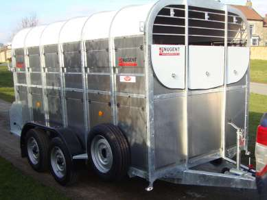 NUGENT 12FT TWIN AXLE CATTLE TRAILER